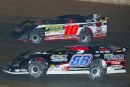 Wendell Wallace (88) battles Justin Wells for the lead in the 2006 Show-Me 100 at West Plains (Mo.) Motor Speedway. (Chuck Gonzalez)