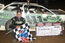 Max Blair earned $10,000 on June 20 at McKean County Raceway in East Smethport, Pa., for his first career World of Outlaws Craftsman Late Model Series victory. (Derek Bobik)